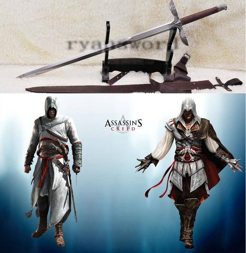Real Sharp Strong Functional Handmade Assassins Altair Sword Heavy Duty Cutting Sword