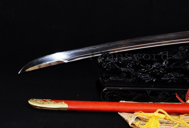 Handmade Sanmai Clay Tempered Chinese Broad Sword Qing Dao