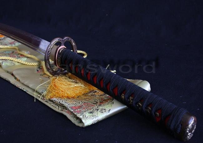 1095 High Carbon Steel Clay Tempered Japanese Samurai Kogarasu Maru Sword