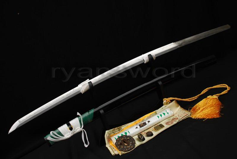 High Quality Clay Tempered+Abrasive 1095 Carbon Steel+Folded Steel+Iron Japanese Samurai Katana Sword