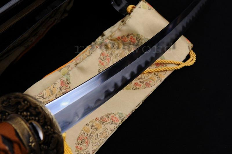 High Quality Shihuzume Clay Tempered Abrasive Ray Skin Saya Japanese Samurai Katana Sword