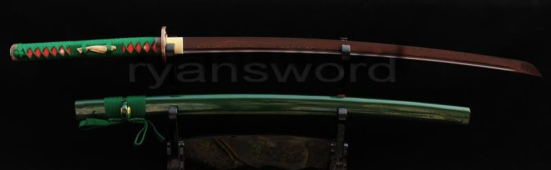 Hand Forged Damascus Red Folded Steel Japanese Samurai Katana Sword