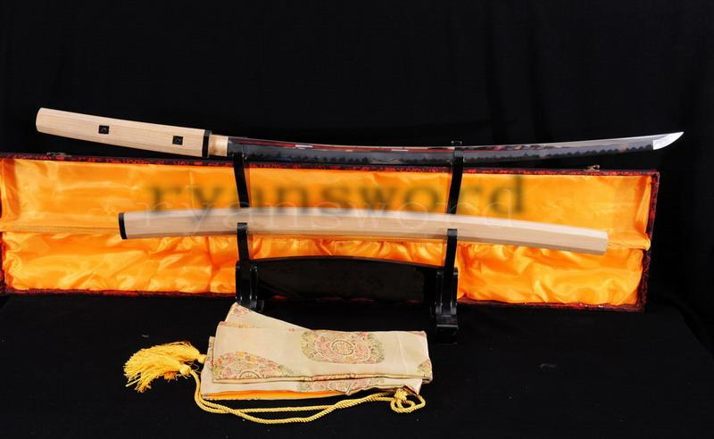 High Quality Maru Clay Tempered Abrasive Japanese Samurai Shirasaya Katana Sword
