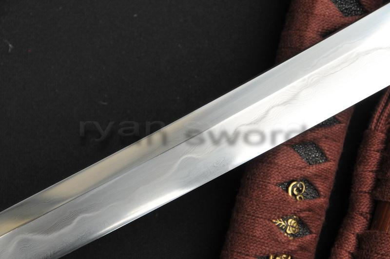 High Quality Sanmai 1095 Carbon Steel+Folded Steel+Clay Tempered Japanese Samurai Katana Sword