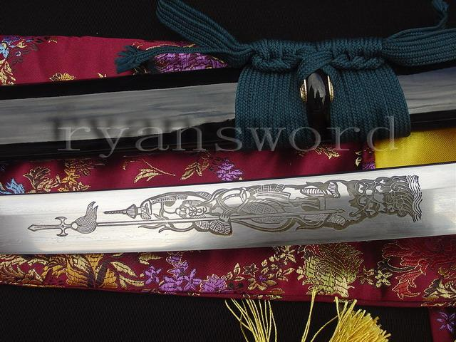 High Quality Folded Steel+1095 Carbon Steel Tiger Tsuba Japanese Katana Samurai Sword