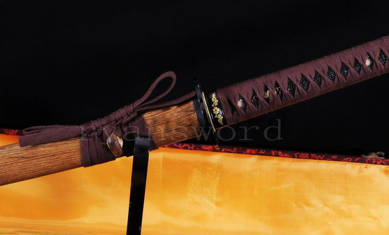High Quality 1095 Carbon Steel+Folded Steel Clay Tempered Honsanmai Japanese Samurai Sword Katana