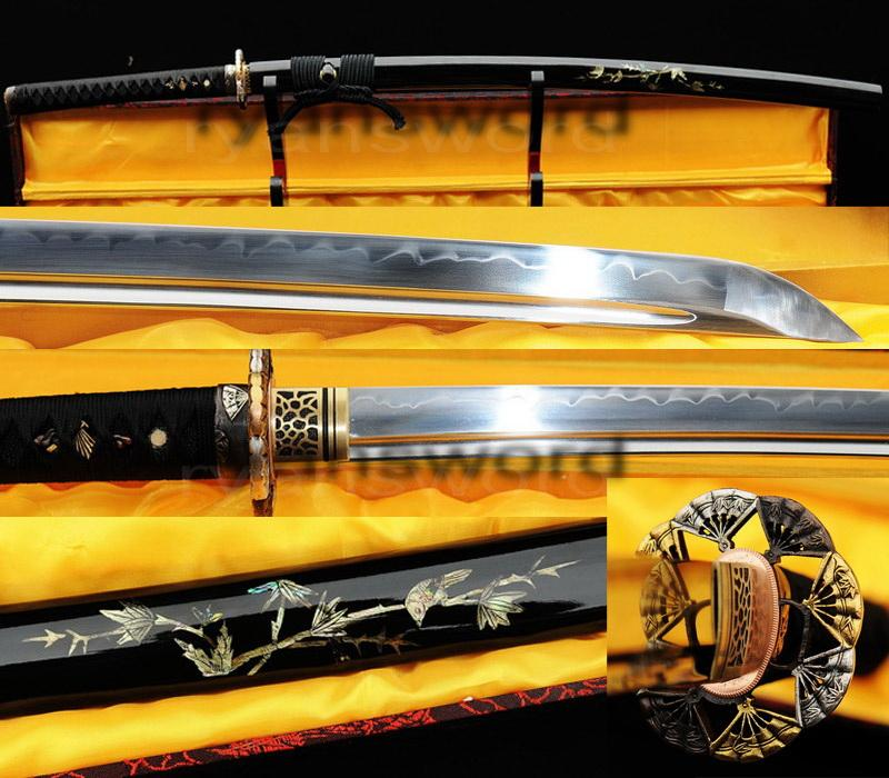 High Quality 1095 High Carbon Steel Clay Tempered Japanese Samurai
