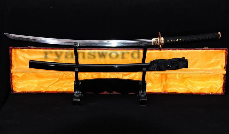 High Quality Honsanmai 1095 Carbon Steel+Folded Steel Clay Tempered Japanese Samurai Sword Katana
