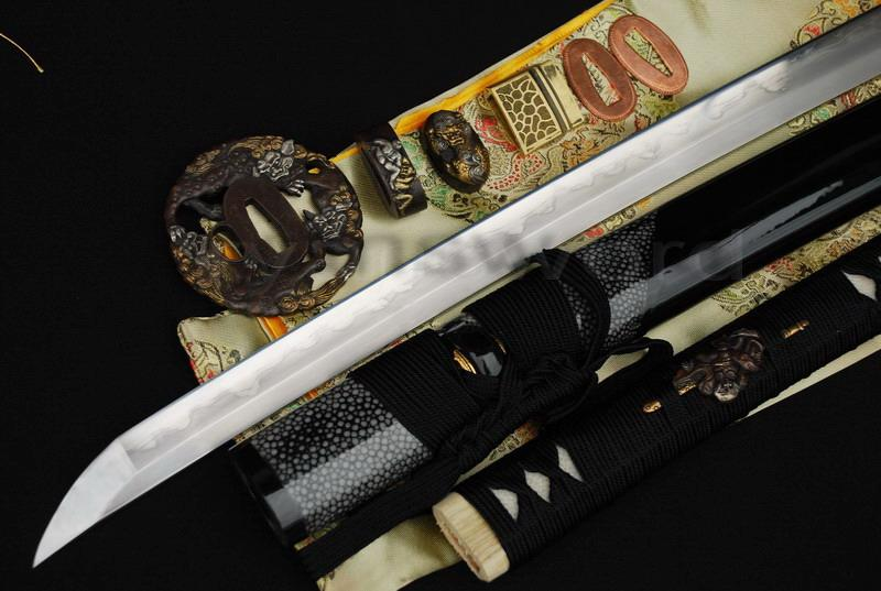 High Quality 1095 Carbon Steel Folded Steel Iron Clay Tempered Abrasive Japanese Katana Sword