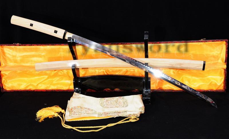 High Quality 1095 High Carbon Steel Clay Tempered Japanese Maru Samurai Shirasaya Sword