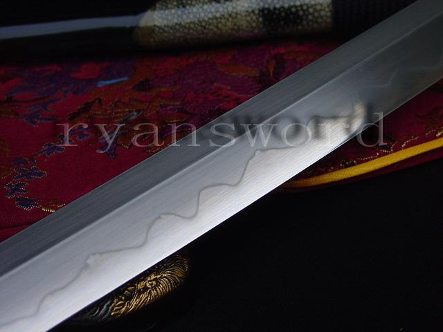 High Quality Clay Tempered+Abrasive 1095 Carbon Steel Japanese Samurai Katana Sword