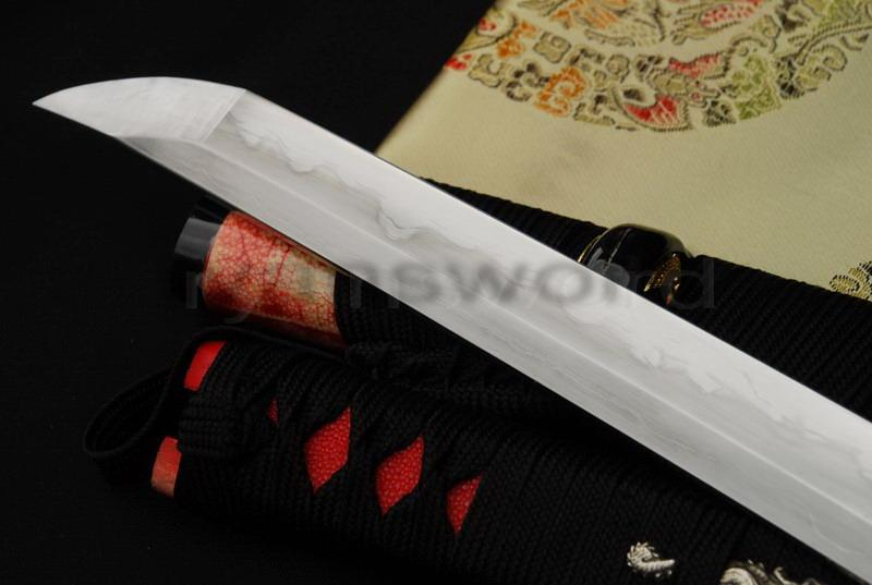 High Quality Combined Material Clay Tempered+Abrasive Ray Skin Saya Japanese Katana Sword