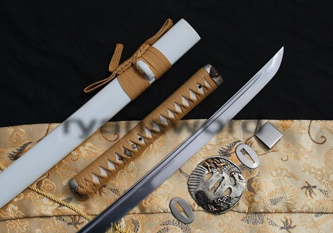 High Quality Folded Steel Eagle Tsuba Japanese Samurai Katana Sword