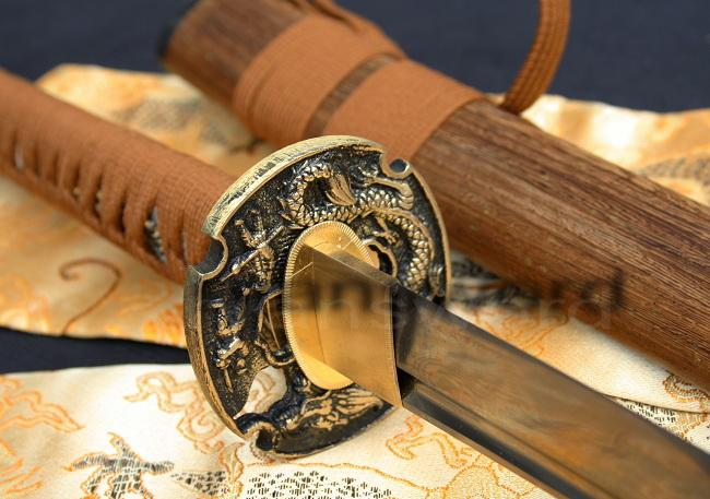 High Quality Folded Steel Hulee Wood Saya Japanese Samurai Katana Sword