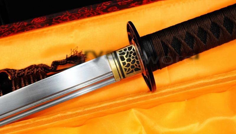 Folded Steel Hand Forged Japanese Samurai Ninja Sword