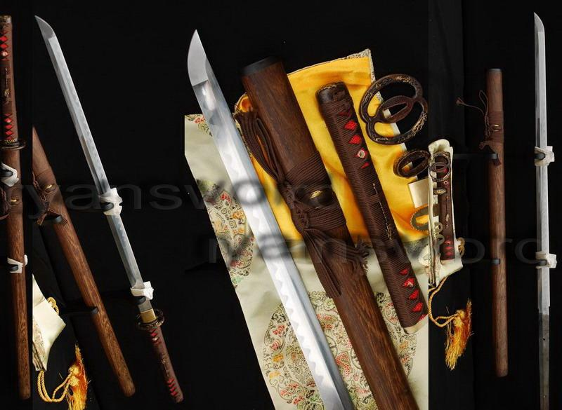 High Quality Folded Steel 1095 Carbon Steel Sanmai Japanese Samurai Ninja Sword