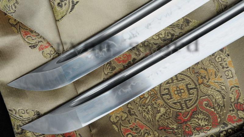 High Quality Clay Tempered1095 Carbon Steel Ray Skin Saya Japanese Sword Set