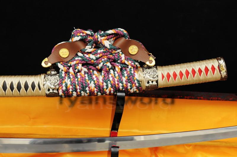 High Quality 1095 Carbon Steel Clay Tempered+Abrasive Japanese Samurai Tachi Sword