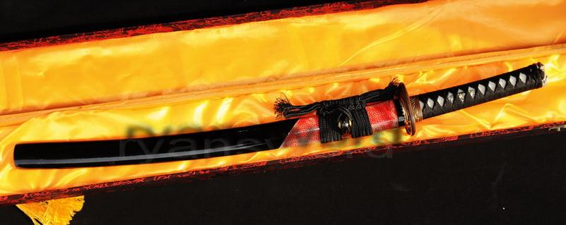 High Quality Clay Tempered Combined Material Clay Tempered Japanese Samurai Wakizashi Sword
