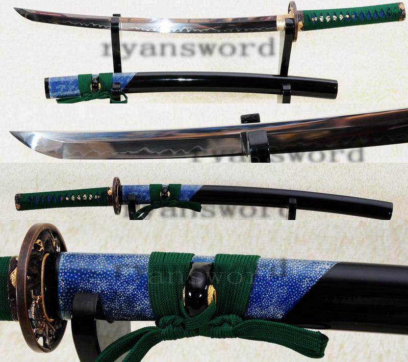 Hand Forged High Carbon Steel Clay Tempered Japanese Maru Samurai Wakizashi Sword