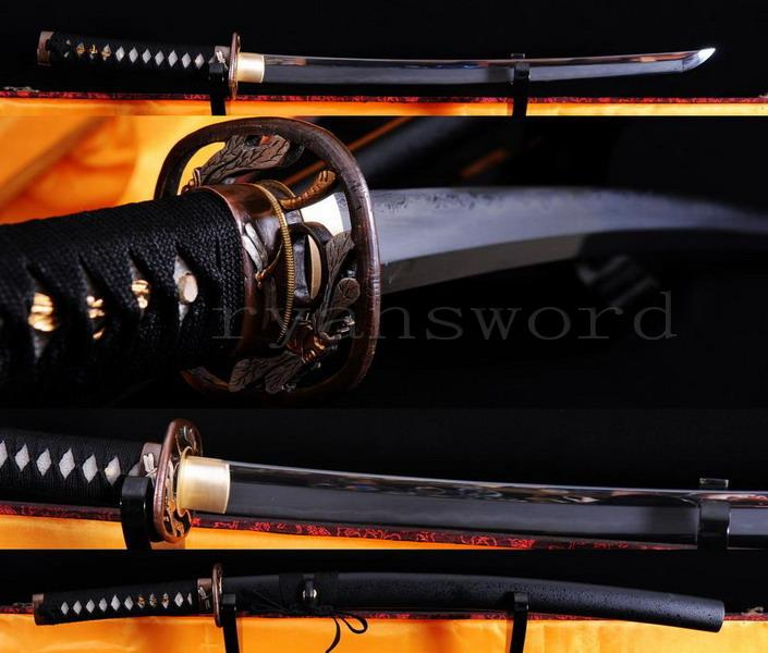 High Quality Clay Tempered Abrasive Japanese Samurai Shihozume Wakizashi Sword