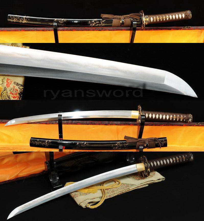 High Quality Combined Material Clay Tempered+Abrasive Japanese Samurai Wakizashi Sword